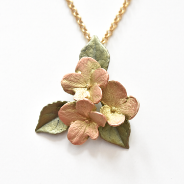 Hydrangea Petal Pendant Necklace - Goldmakers Fine Jewelry