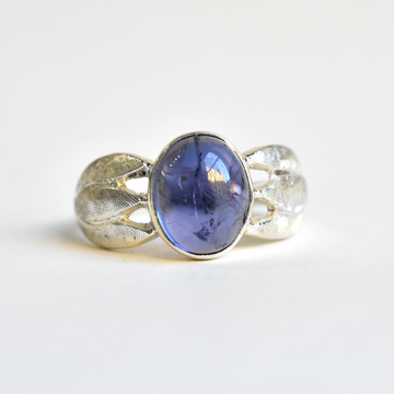 Leafy Iolite Ring - Goldmakers Fine Jewelry