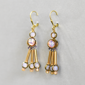 Iridescent Pendulum Wire Drops - Goldmakers Fine Jewelry