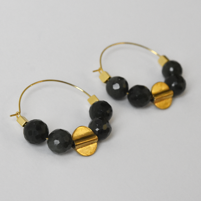 Jade Hoop Earrings - Goldmakers Fine Jewelry