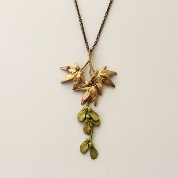 Japanese Maple Leaf Necklace - Goldmakers Fine Jewelry