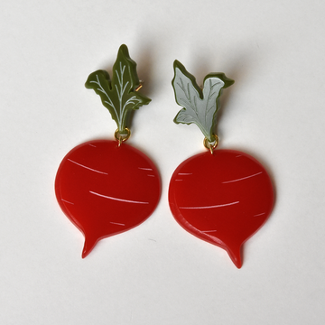 Large Beet Earrings - Goldmakers Fine Jewelry