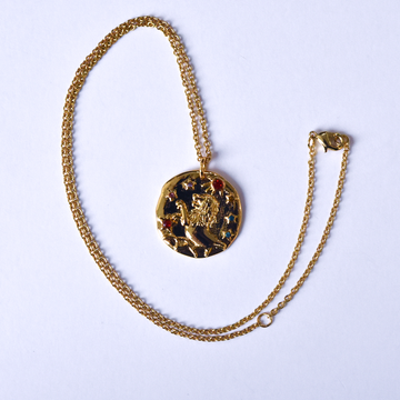 Leo Coin Necklace - Goldmakers Fine Jewelry