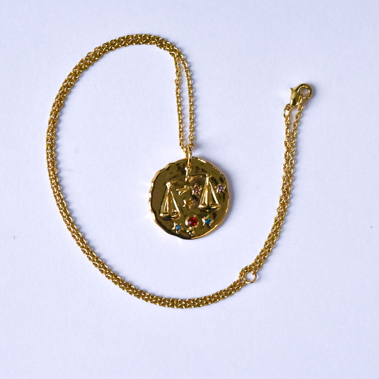 Libra Coin Necklace - Goldmakers Fine Jewelry