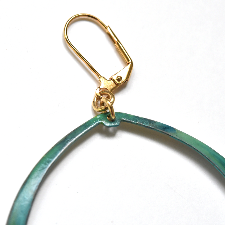 Lila Meli Hoop Earrings - Goldmakers Fine Jewelry