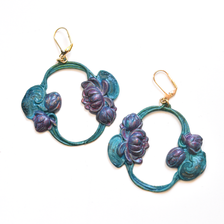 Nouveau Lily Earrings - Goldmakers Fine Jewelry