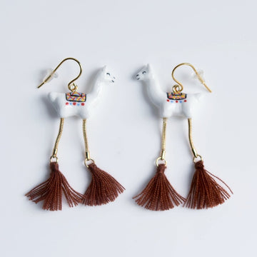 Llama French Wire Earrings - Goldmakers Fine Jewelry