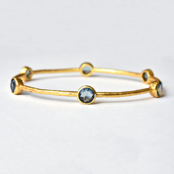 London Blue Milano Bangle - Goldmakers Fine Jewelry