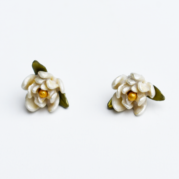 Magnolia Post Earrings - Goldmakers Fine Jewelry