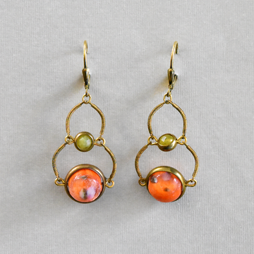 Marble Wire Drops - Goldmakers Fine Jewelry