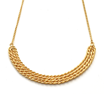 Arch Mimbre Necklace in Gold Overlay - Goldmakers Fine Jewelry