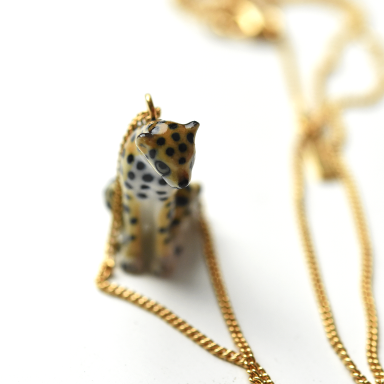 Leopard Pendant Necklace - Goldmakers Fine Jewelry