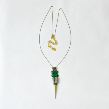 Malachite and Magnesite Necklace - Goldmakers Fine Jewelry
