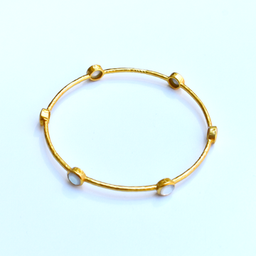 Mother of Pearl Milano Bangle - Goldmakers Fine Jewelry