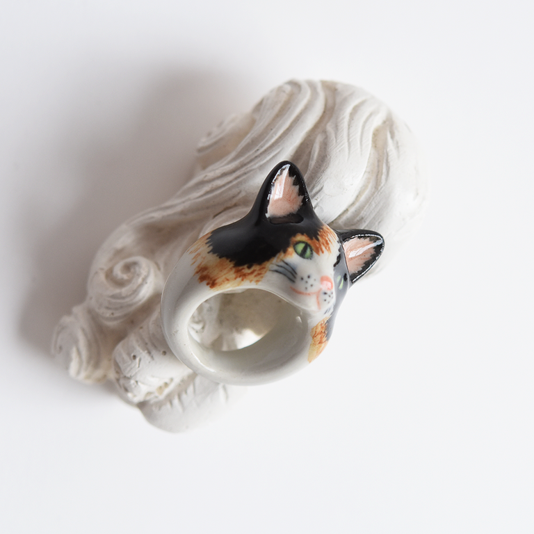 Calico Kitty Ring - Goldmakers Fine Jewelry