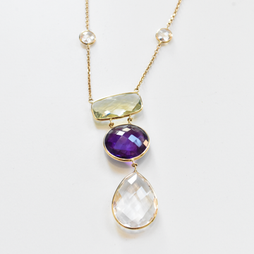 Amethyst Necklace in Gold - Goldmakers Fine Jewelry