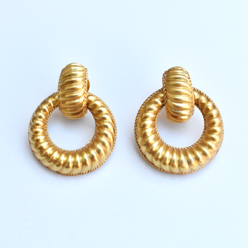 Olympia Doorknocker Earrings - Goldmakers Fine Jewelry