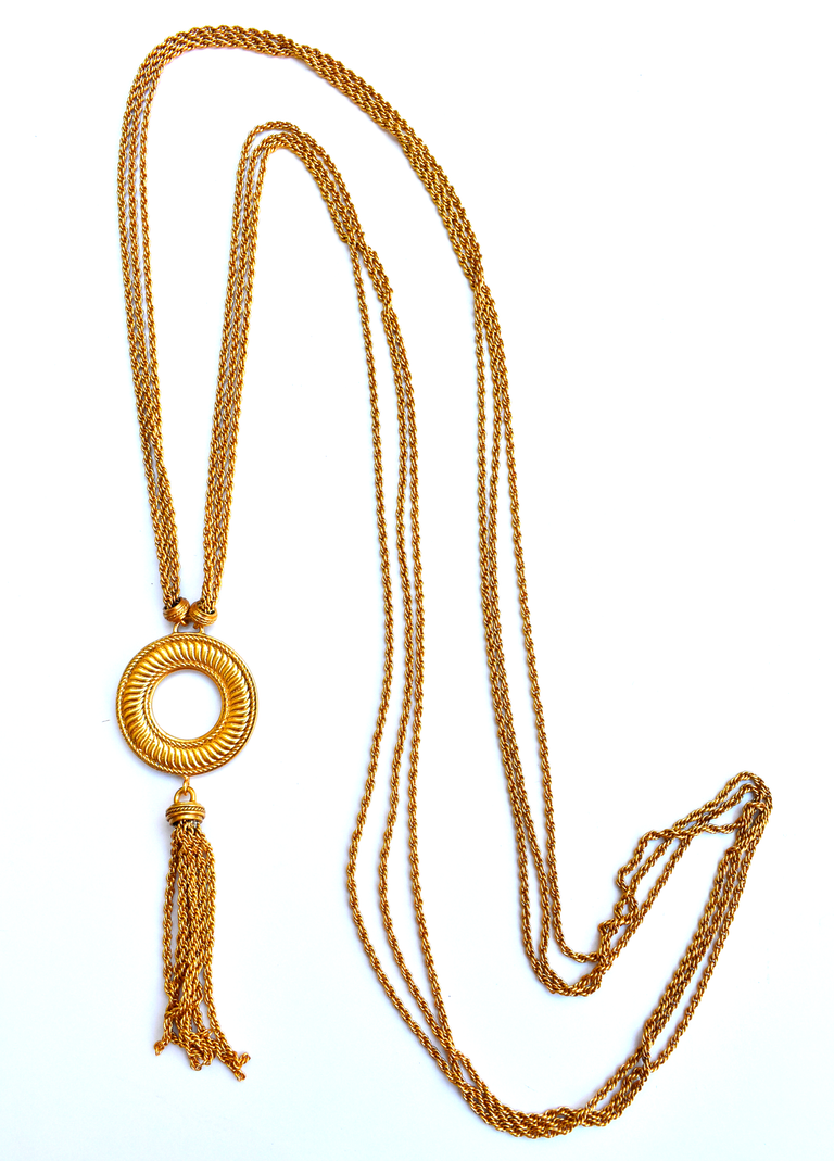 Olympia Tassle Necklace - Goldmakers Fine Jewelry