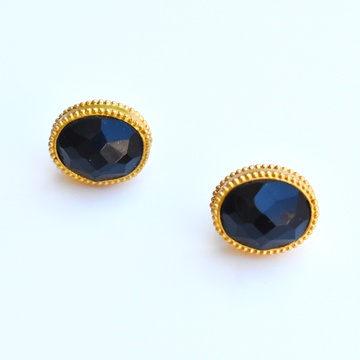 Onyx Verona Stud Earrings - Goldmakers Fine Jewelry