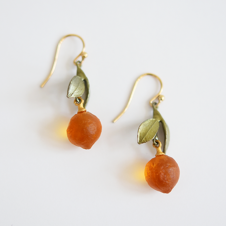 Orange Fruit Earrings - Goldmakers Fine Jewelry