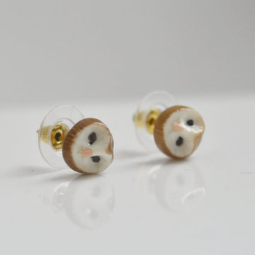 Owl Post Earrings - Goldmakers Fine Jewelry