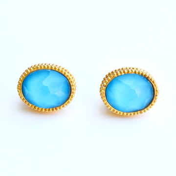 Pacific Blue Verona Stud Earrings - Goldmakers Fine Jewelry