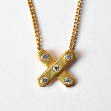 Paris X Necklace - Goldmakers Fine Jewelry
