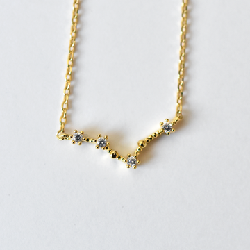 Pisces Constellation Necklace - Goldmakers Fine Jewelry