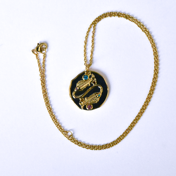 Pisces Coin Necklace - Goldmakers Fine Jewelry