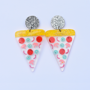 Pizza Earrings! - Goldmakers Fine Jewelry