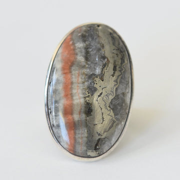Pyrite and Agate Ring - Goldmakers Fine Jewelry