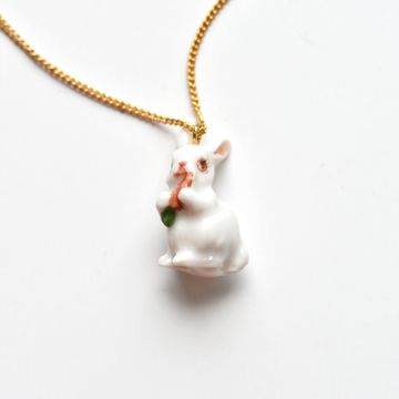 White Rabbit Necklace - Goldmakers Fine Jewelry