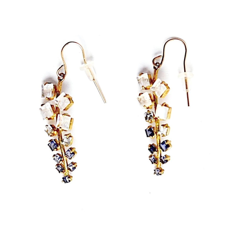 Radiant Moonstone and Iolite Earrings - Goldmakers Fine Jewelry