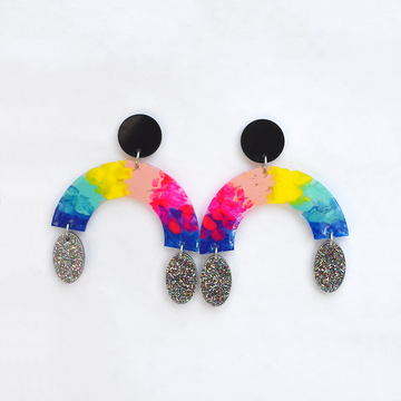 Rainbow Arch Earrings - Goldmakers Fine Jewelry