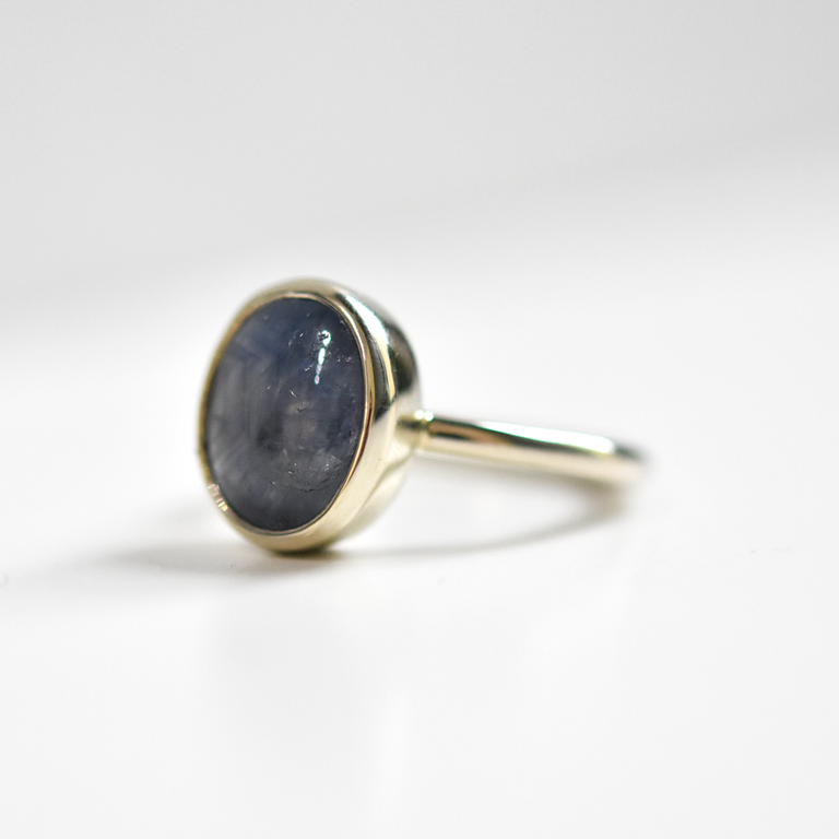 Star Sapphire Ring in White Gold - Goldmakers Fine Jewelry