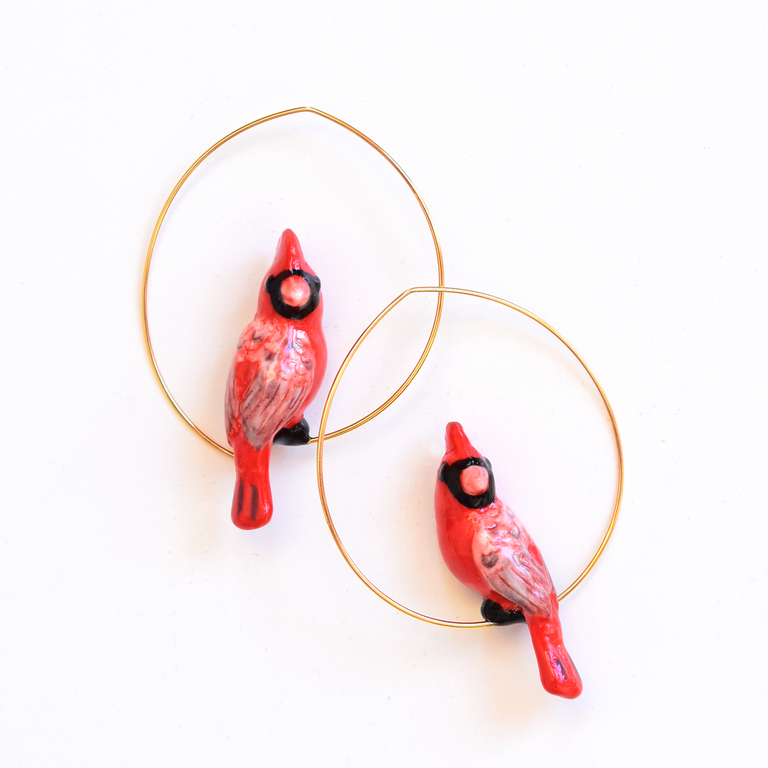 Cardinal Hoop Earrings - Goldmakers Fine Jewelry