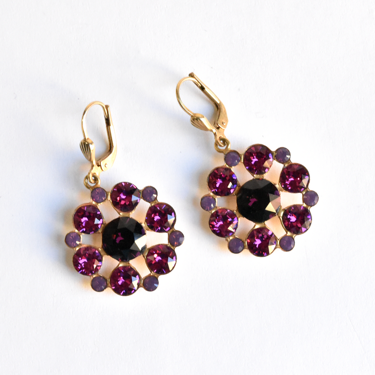 Pink Flower Drops - Goldmakers Fine Jewelry