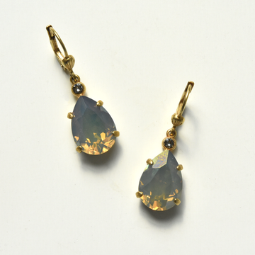 Reflective Crystal Drop Earrings - Goldmakers Fine Jewelry