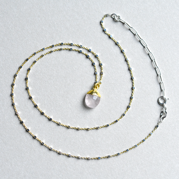 Rose Quartz Necklace - Goldmakers Fine Jewelry