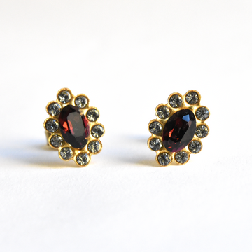 Ruby Red Studs - Goldmakers Fine Jewelry