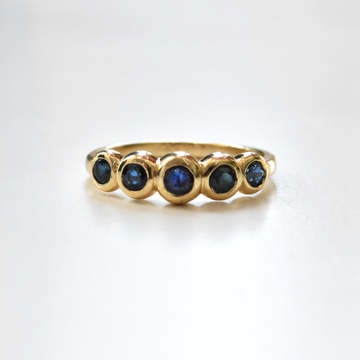 Blue Sapphire Wedding Band - Goldmakers Fine Jewelry