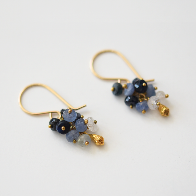 Sapphire Vermeil Wire Earrings - Goldmakers Fine Jewelry