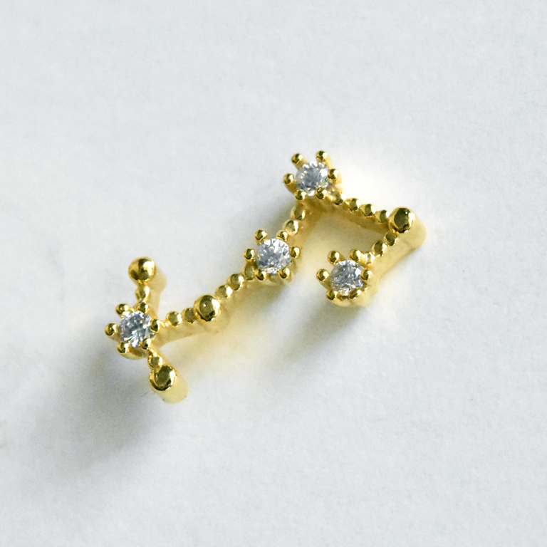 Scorpio Constellation Post Earrings - Goldmakers Fine Jewelry