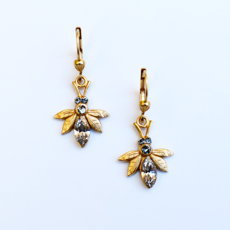 Small Bee Earrings - Goldmakers Fine Jewelry