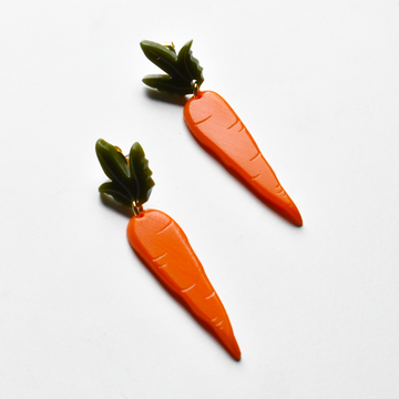 Small Carrot Earrings - Goldmakers Fine Jewelry