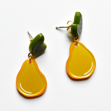Small Gold Pear Post Earrings - Goldmakers Fine Jewelry