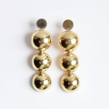 Brass Stacked Ball Earrings - Goldmakers Fine Jewelry