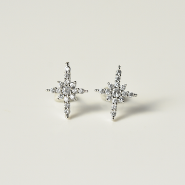 Crystal Starburst Stud Earrings - Goldmakers Fine Jewelry