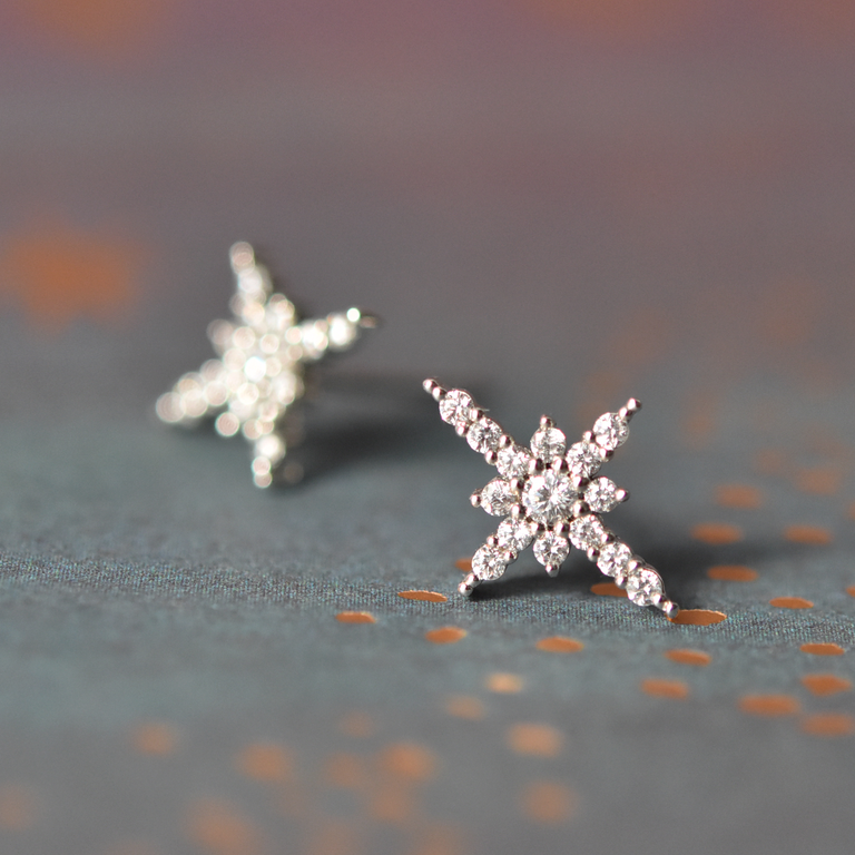 Starburst Earrings - Goldmakers Fine Jewelry