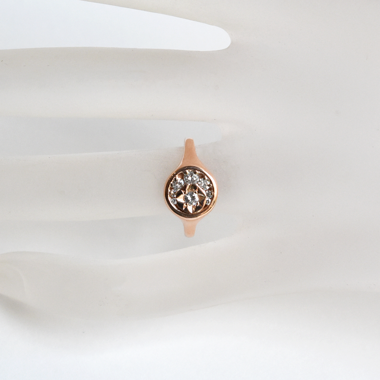 Stella Luna Ring in Rose Gold with Diamonds - Goldmakers Fine Jewelry